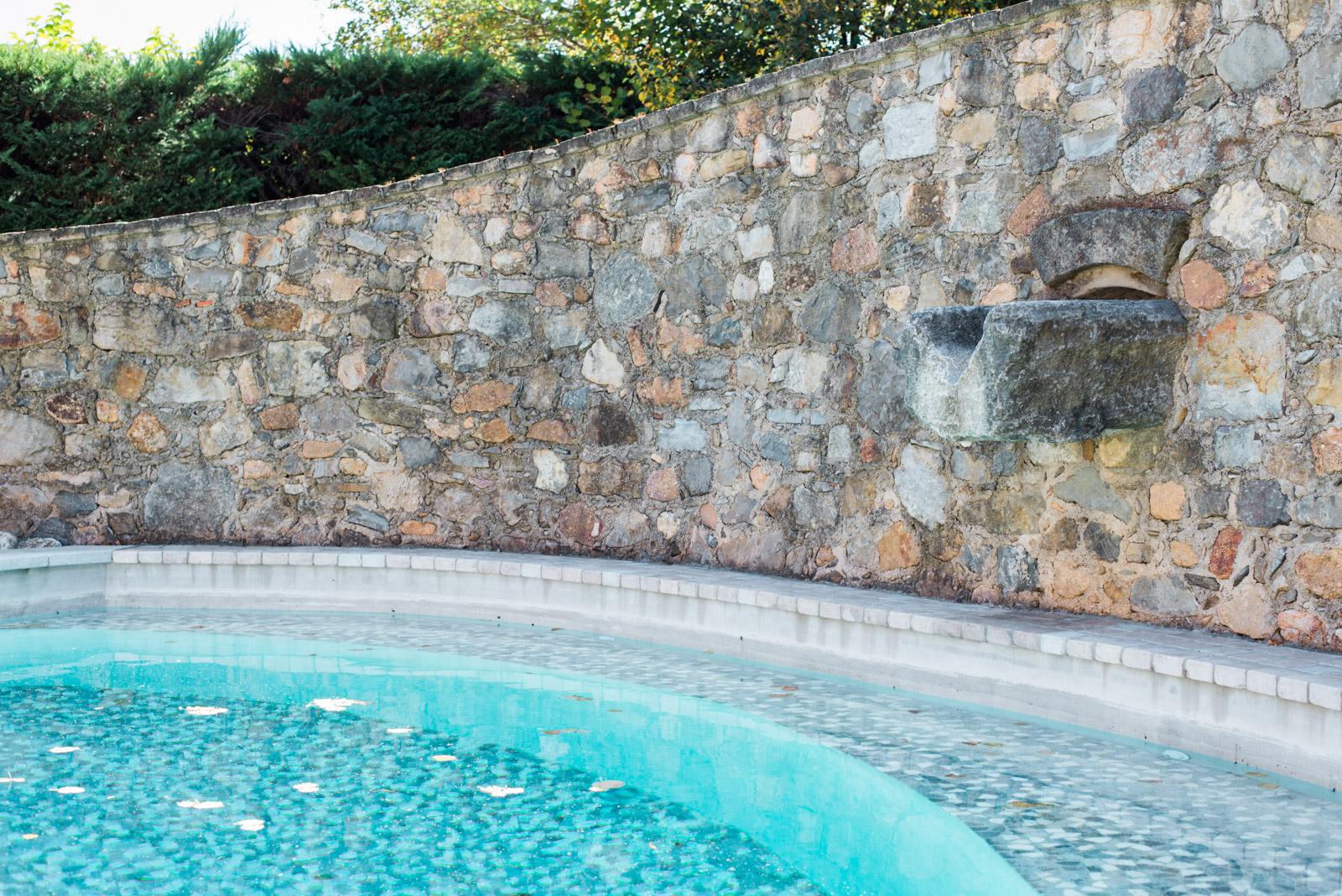 Détails architecture de la piscine