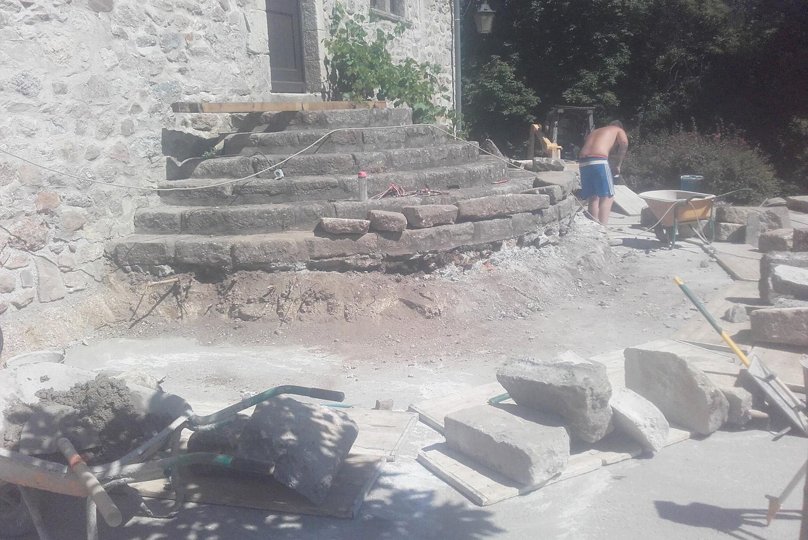 Rénovation d'un escalier en pierre