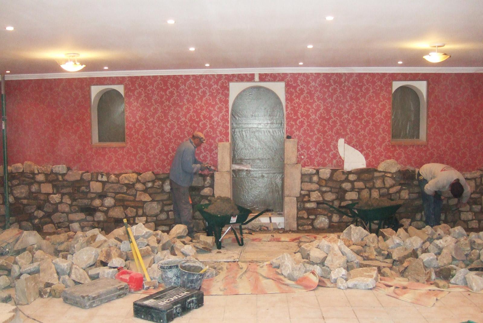 Aménagement d'un mur en pierre