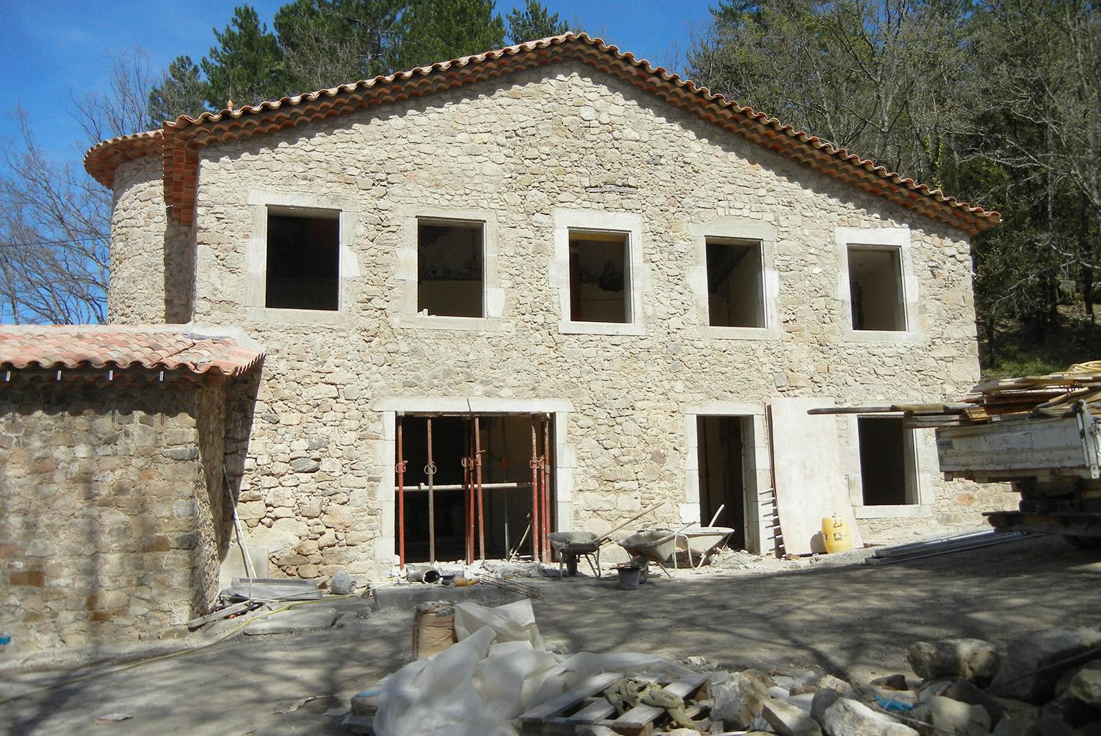 Rénovation d'une maison en Cévennes, travaux terminés