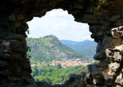 Anduze, vu du château de Tornac