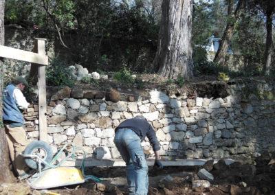 Création de murets (faïsse) en Cévennes