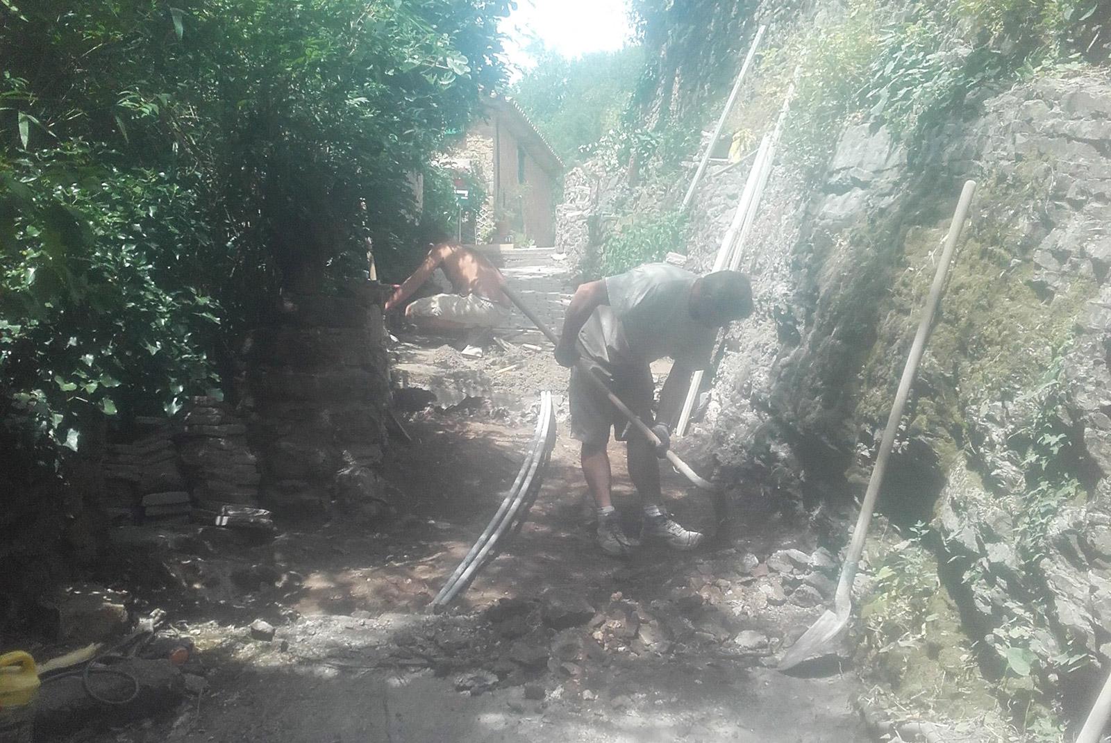 Réaménagement d'une ruelle avant travaux